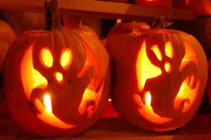 Ghostly pumpkins