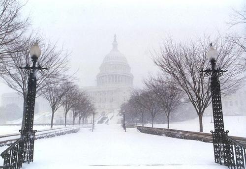 Snowy capitol