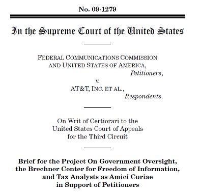 POGO amicus brief FCC v ATT