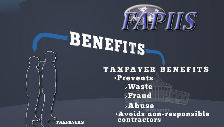 FAPIIS's benefit to taxpayers may be muted if the Administration continues to bow to contractors' wishes