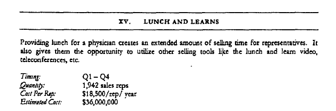 The old lunch n learn