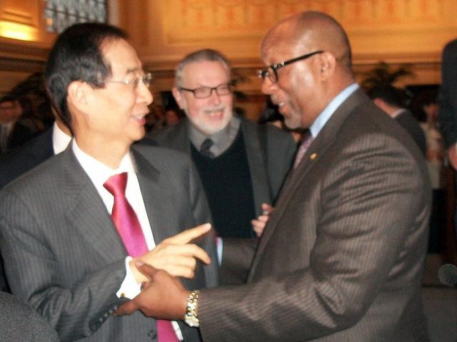 Korean ambassador and US Trade Rep