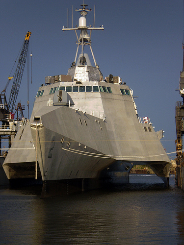 A littoral (aka close-to-shore) combat ship