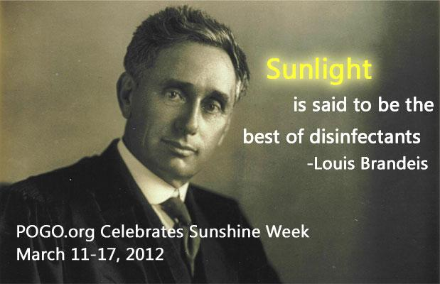 POGO celebrates sunshine week