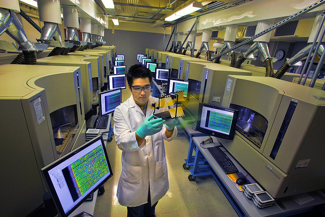 A scientist at Lawrence Berkeley National Laboratory